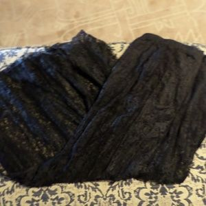 Black lace skirt size L